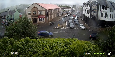 Live traffic cams on Letterkenny roundabouts